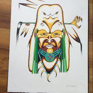 Edwin Bear - Aboriginal Style Art Work from MB